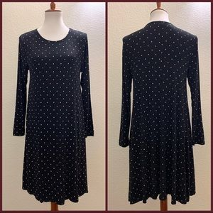 Old Navy Polka Dots Long Sleeves Dress